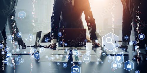 Fototapeta ビジネスネットワーク  デジタルトランスフォーメーション