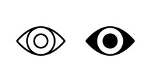 Eye Icon Vector For Web, Computer And Mobile App