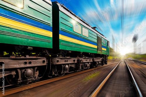 Fototapeta train on railway