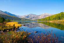 Scenic View Of Mountains And Lake