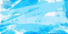 波と風と飛沫、海をイメージしたペイントアート