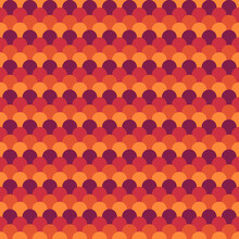 Seamless Scales Pattern. Japan Traditional Ornament. Ethnic Embroidery. Repeated Scallops. Fish Scale. Repeat Scallop Shapes Background. Japanese Sashiko Uroko Motif. Vector Tiles. Squama Wallpaper.