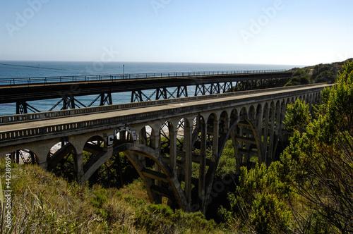 Obraz na plátně Arroyo Hondo Bridge and Trestle