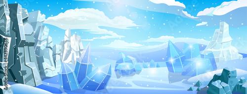 Fotografie, Tablou Big arctic panorama background