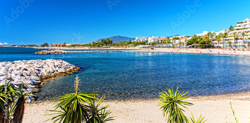 Canvas Strand in Marbella Andalusien