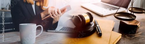 Fotografia, Obraz Justice and law concept