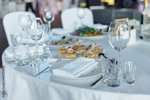 Obraz na plátně Table setting for a banquet or celebration