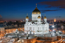 A Large Building With Cathedral Of Christ The Saviour.