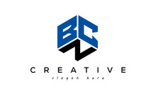 BCN Letter Creative Logo With Shield