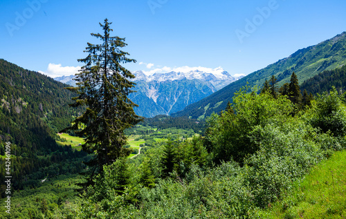 Fotografia Scenic view of the Swiss Alps in the Grisons canton. Switzerland