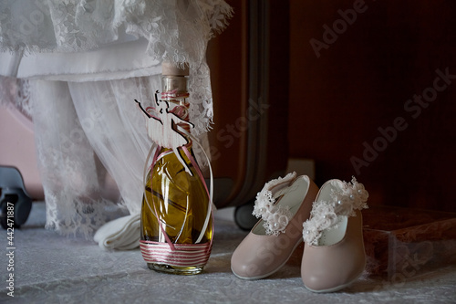 Photo church decorations at a christening