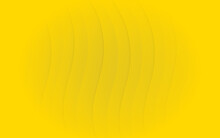 Texture Of Yellow Wavy Shading Background.abstract Yellow Papercut Background.
