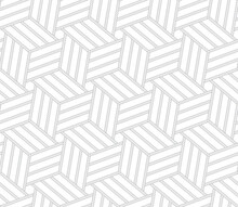 Vector Black Geometric Seamles Line Texture Rope. Isolated On White Background