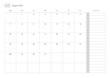 Simple August 2022 calendar template illustration.