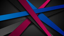 Purple And Blue Stripes Abstract Corporate Background