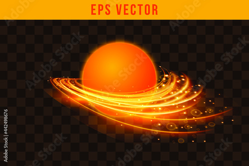 Canvas Print Set fire effect EPS Vector glow object illuminated isolated