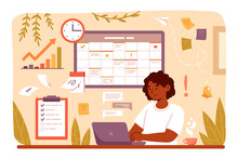 Woman Planning Day, Scheduling Appointments