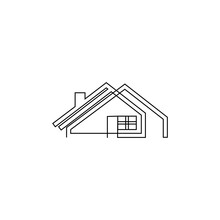 Continuous Line Logo Real Estate