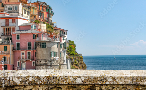 Summer background of free space and italy landscape