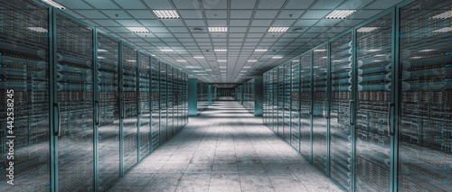 Obraz na plátně internal image of a server room.