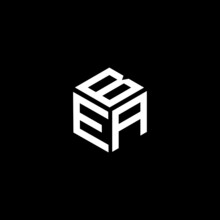BEA Letter Logo Design On Black Background.BEA Creative Initials Letter Logo Concept.BEA Letter Design. BEA White Letter Design On Black Background.M,W Logo Vector.
