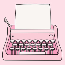 Pink Typing Machine