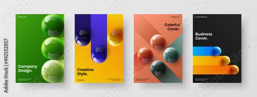 Foto Clean 3D orbs booklet layout set