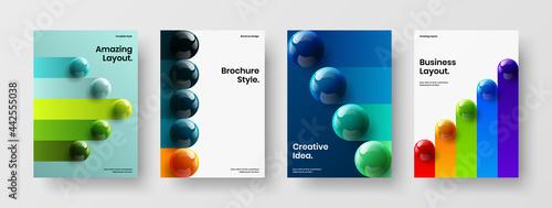 Leinwand Poster Simple cover A4 vector design illustration bundle