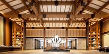 3d Render Of Building Interior Reception Lobby