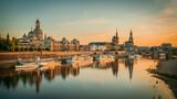 Fototapeta Kawa jest smaczna - the old town of dresden while sunset