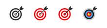 Target Business Icon. Set Sign Symbol For Concept Design. Vector