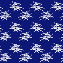 Repeated Patterns. Texture With Flying Birds. Flying Swans. Textures For Scrapbooking, Wallpaper, Fabrics.