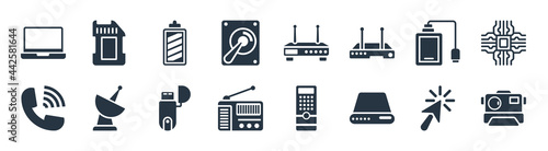 Fotografia hardware filled icons