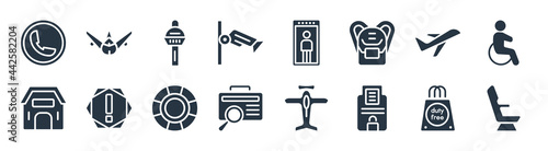 Fotografie, Obraz airport terminal filled icons