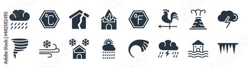 Obraz na plátne meteorology filled icons