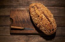 Healthy Artisan Bread Loaf With Grains