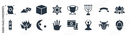 Fotografia religion filled icons