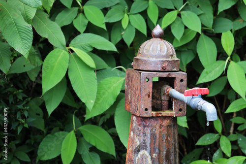 Obraz na plátně ancient lamp modified as water tap