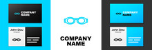 Blue Line Glasses For Swimming Icon Isolated On White Background. Swimming Goggles. Diving Underwater Equipment. Logo Design Template Element. Vector