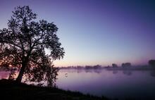 Colorful Sunrise Over A Lake