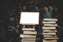 Blank Photo Frame In The Classroom