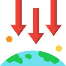 Gravity Flat Icon