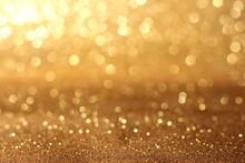 Golden Giltter Texture Christmas Abstract Background