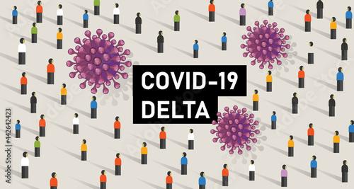 Cuadros en Lienzo covid-19 new variant delta corona virus epidemic mutation world wide map