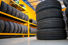 New Tire Warehouse Room In Stock There Are Plenty Of Them Available To Replace Tires At A Service Center Or Auto Repair Shop. Tire Warehouse For The Car Industry