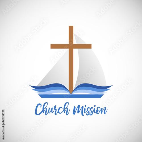 Fototapeta Christian church mission concept