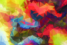 Geometric Rumpled Triangular Low Poly