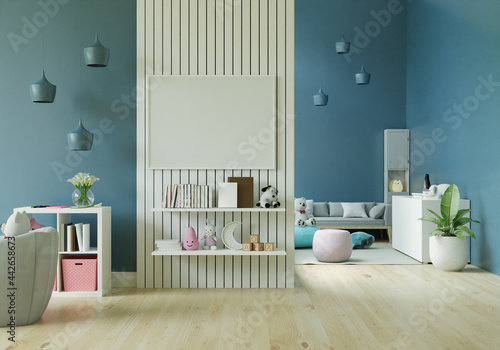 Playroom with dolls and picture frames. Fototapet