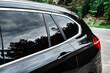 Modern car with tint back windows.