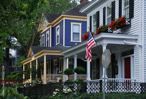 Villa in der Altstadt von Wilmington, North Carolina Fototapet